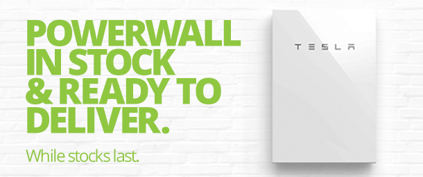 Powerwall 2 in stock and ready to deliver