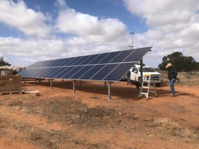 The array of a 8kw off grid Selectronic Australia made system.